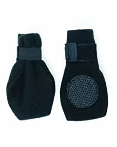 Fashion Pet Lookin Good Arctic Fleece Boots for Dogs, X-Small, Black