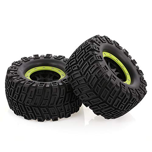 Mobiliarbus RC Accessories 2pcs AUSTAR 165mm 3.8 Inch Rim Rubber Tyre Tire Wheel for 1/8 HSP HPI Traxxas RC Off-Road Car Crawler