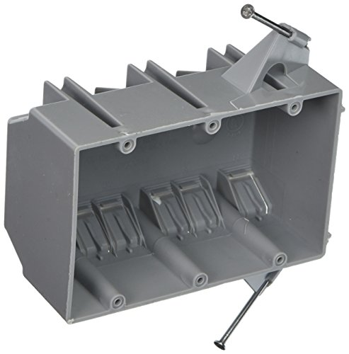 Hubbell-Raco 7846RAC 2-3/4-Inch Deep 3 Gang Non-Metallic Cable Electrical Box with (12) NMSC Clamps and (2) Captive Nails, 5-7/8-Inch x 3-1/2-Inch