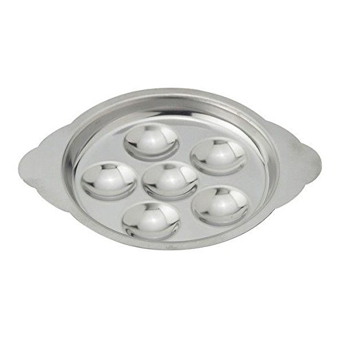 Stainless French Escargot Plate / Tray For 6 Snails (Pack of 4) (Steel Escargot Stainless)