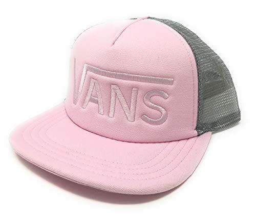 (Vans Drop V Trucker Hat Pink Gray)