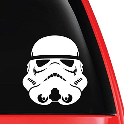EvolveFISH Stormtrooper Helmet Vinyl Decal White 5