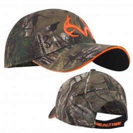 Realtree Xtra Orange Antlers Logo'd Deer Hunting Cap Hat Deer Logo Cap
