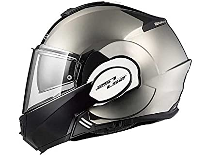 LS2 Helmets Motorcycles & Powersports Helmets Modular Valiant (Black Chrome, X-Small)