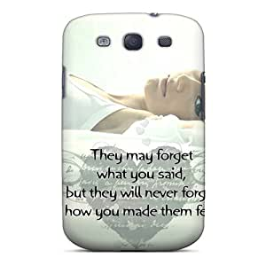 Galaxy S3 Case, Premium Protective Case With Awesome Look - Luv Make U Feel Wow
