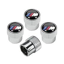 BMW M Logo ABS Chrome Tire Stem Valve Caps