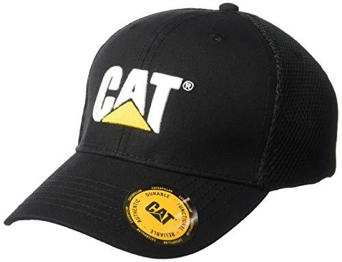 Caterpillar Men's Acitve Mesh Stretch Cap, Black, L/XL