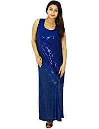 Women Fashion Party Wear Dress Sleeveless Casual New Evening Long Dress