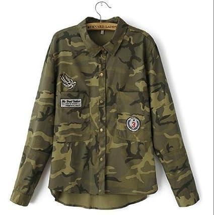 Amazon.com : Jacket Women Military Camouflage Blouse Coat Casual Fashion Jaqueta Feminina Chaquetas Mujer Size:XL : Everything Else