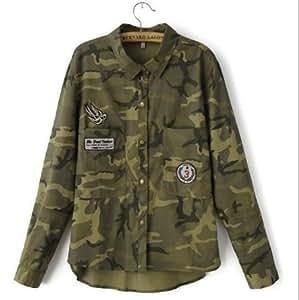 Amazon.com : Jacket Women Military Camouflage Blouse Coat