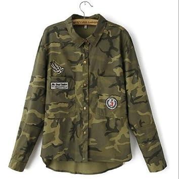 Amazon.com : Jacket Women Military Camouflage Blouse Coat ...