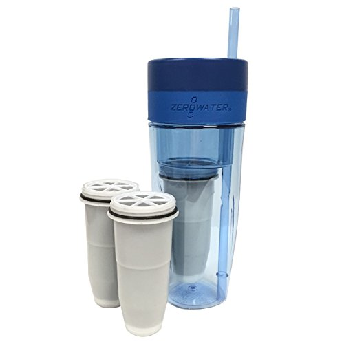 ZeroWater-26oz-Portable-Filtration-Tumbler-and-2-Pack-Tumbler-Replacement-Filters-ZT-M01