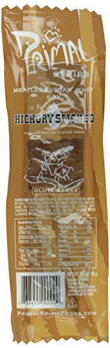 Primal Strips Meatless Vegan Jerky, Hickory Smoked, 4 Ounce (Pack of 12)