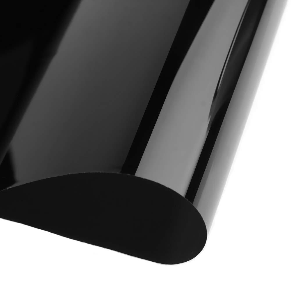 Ahomi Car Home Color Negro Rollo de l/ámina de Tinte para Ventana de Cristal con rascador VLT
