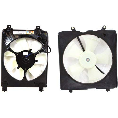 Cooling Fan Assembly Compatible with HONDA Civic 2006-2011 A/C and Radiator Fan Shroud Assembly 1.8L Eng. Coupe/Sedan Manual Transmission