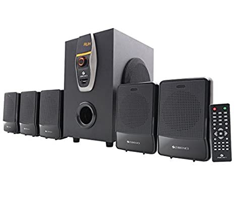 Zebronics ZEB-6860-BTRUCF 5.1 Multimedia Home Theatre System with Bluetooth (Black) Bluetooth Speakers at amazon