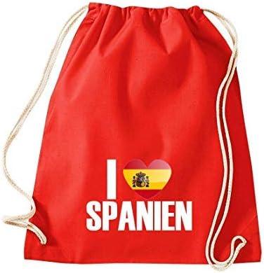 Shirtinstyle Gimnasio Saco Bolso para Deporte i Love España, Land ...