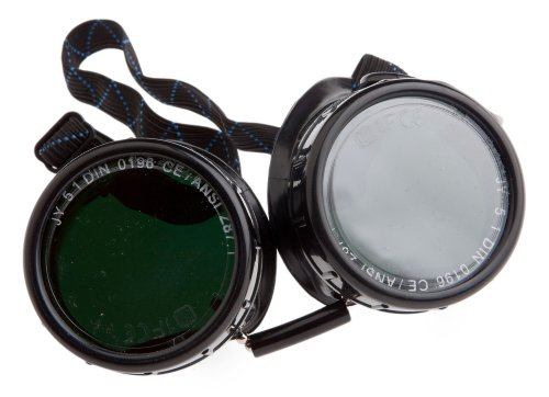 Forney 55311 Goggles, Oxygen Acetylene, Economy Eye-Cup 50MM Round Lens, - Round Goggles Safety
