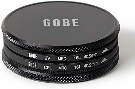 CPL Polarizador UV Kit de Filtros 55mm Schott MRC 16-Capas Gobe