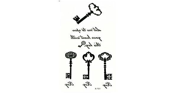 Just Fox – temporäres Tattoo Llave Key: Amazon.es: Belleza
