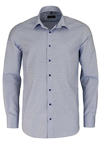 Eterna Long Sleeve Shirt Modern Fit Natté Structured