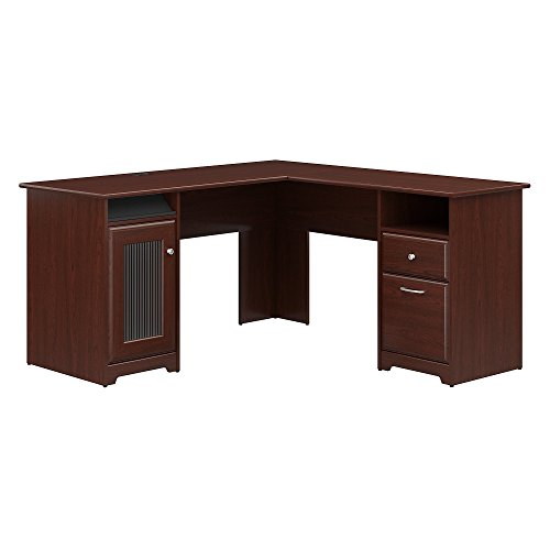 Bush Furniture Cabot L Shaped Computer Desk in Harvest Cherry