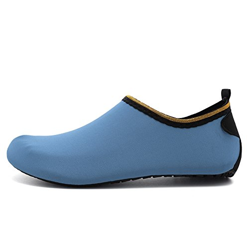 EQUICK Women Water Shoes Quick-Dry breather Sports Skin Shoes Barefoot Anti-Slip Multifunctional Socks Yoga Exercise Cj.blue w45lsQ8