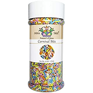 India Tree Nature's Colors Carnival Sprinkles, 6 Ounce