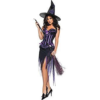 Adult Purple Carousel Witch Costume - XLarge