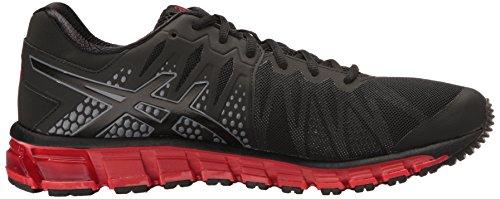 ASICS Mens Gel-Quantum 180 TR Cross-Trainer Shoe Black/Onyx/Vermilion MTIRv31E