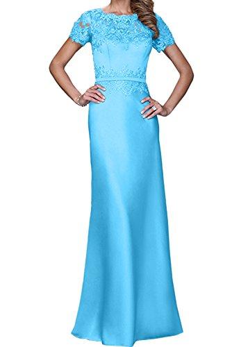 Damen Aermeln Promkleid Ivydressing Mit Blau Neu Abendkleider 2017 Lang Spitze Ballkleider UwxqHIPxd