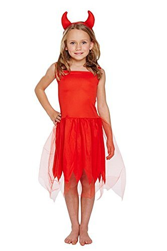 Toddler Infant Girls Red Devil Horns Halloween Horror Fancy Dress Costume Outfit 3 Years V00913 by Henbrandt