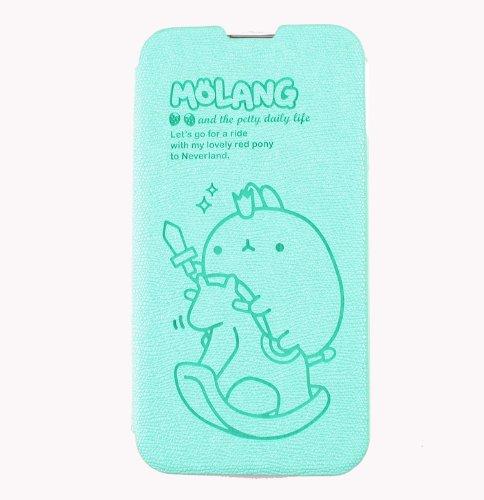 MOLANG Premium Leather Flip Cvoer Wallet Case For LG Optimus G Pro E980 (Mint)