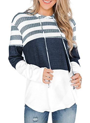 VRESDi Women Soft Hoodie Sweatshirt Casual Long Sleeve Drawstring Pullover Tops