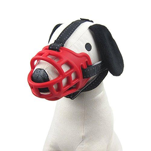 Alfie Pet by Petoga Couture - Dillon Adjustable Quick Fit Plastic Muzzle - Color: Red Size: Small (Red Muzzle)
