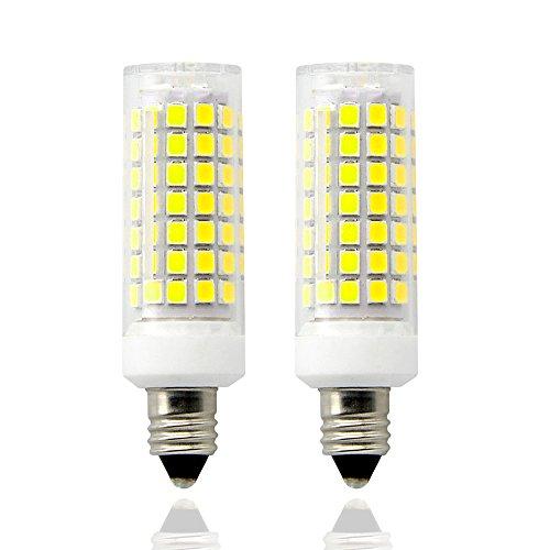(E11 led Bulbs,8.5 Watt,110V-130V, 700 lumens,Length 63mm,Mini Dimmable Candelabra Base, JD Type Clear E11 Light Bulbs, 70W Halogen Bulbs Replacement,(Pack of 2). (Daylight White))