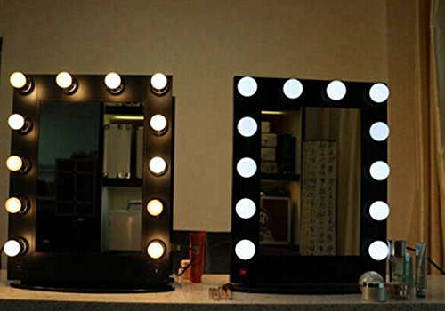 Hollywood Vanity Makeup Mirror 12 LED Bulb Lights Professional Artist Stage Mirror-Broadway ...