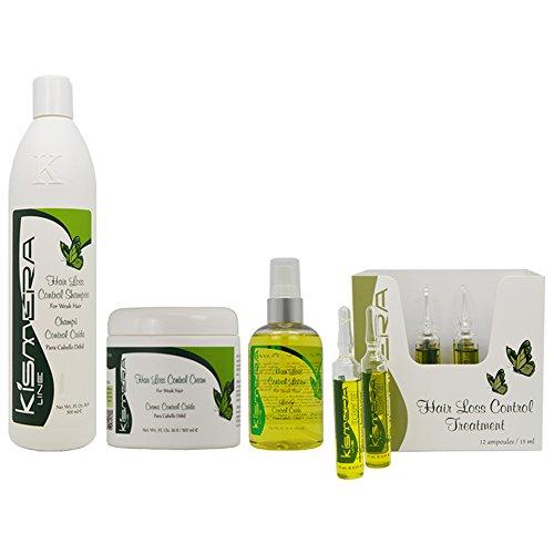 Kismera Hair Loss Control Shampoo & Cream & Lotion & Treatment 12ampoules ''Set'' by Kismera