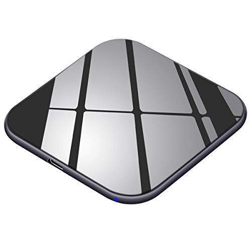 Te-Rich Cargador inalámbrico 15W Máximo Cargador Qi 10W para Samsung Galaxy y Note 10/10+/9/S10/S9/S8+/S8/Huawei P30Pro…