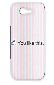 TPU Skid-proof Internet Facebook Geek Like Button For Sumsang Galaxy Note 2 Black You Like This Protective Hard Case