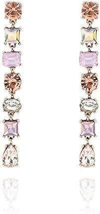 Teniu Retro Crystal Fashion Earrings Tassel Earrings Diamond Cubic Zirconia Earrings Dangle Earrings For Sensitive Ears