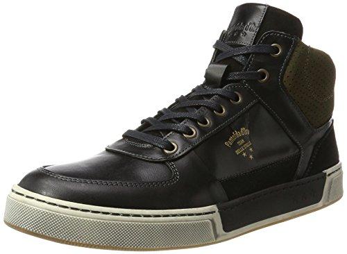 Nero Sneaker Mid Alto d'Oro Black Uomo a 25y Frederico Pantofola Collo 748Wfwn