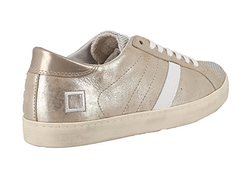 T D A Stardust Laminated E Sneaker Platinum Low Women's Platino Leather Hill 5qAUqd