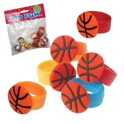 Basketball Rubber Rings - 12 Pack