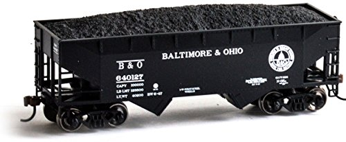 O 34' 2-Bay Offset Hopper w/Coal Load,B&O #640127 ()