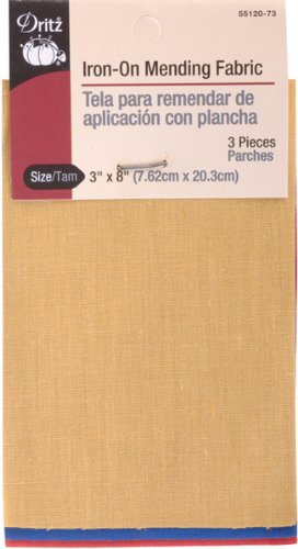 Dritz 55120-73 Iron-On Mending Fabric, Primary Assorted, 3 by 8-Inch ()