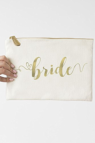 Canvas Bride Foil Gold Style Clutch Gold 2326 BRD EqwqdC