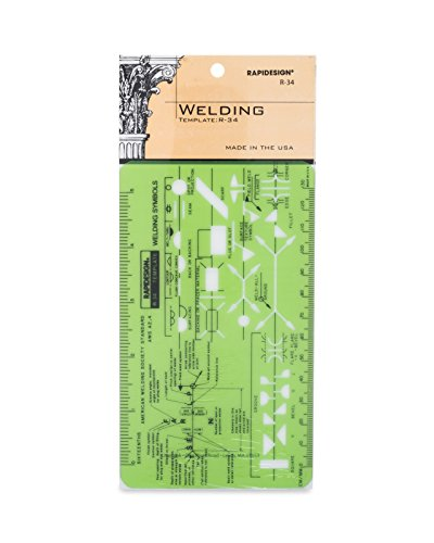 Rapidesign Welding Pocket-Size Template, 1 Each (R34) ()