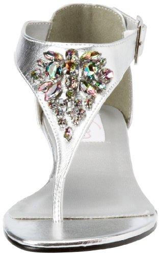 Women's Cleo Dyeables Metallic Silver Sandal Silver 1q8w4xZ8a