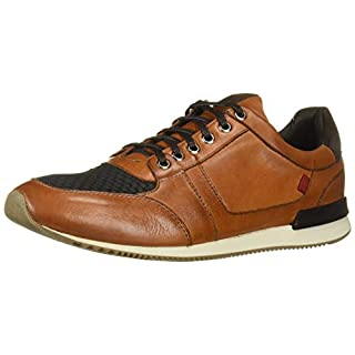 Marc Joseph New York Men's Genuine Leather Made in Brazil Luxury Fashion Trainer Sneaker, whiskey nappa Soft, 9 M US
